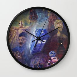 """""""13 in 50"""" a Tribute to Doctor Who Wall Clock"""