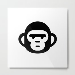 The grumpiest monkey. Metal Print