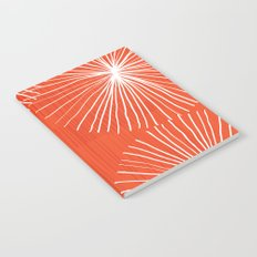 Dandelions in Red by Friztin Notebook