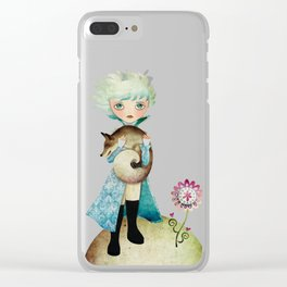 Wintry Little Prince Clear iPhone Case