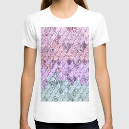 Mermaid Scales with Unicorn Girls Glitter #1 #shiny #pastel #decor #art #society6 T-shirt