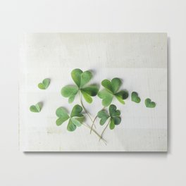 Shamrock Family Metal Print