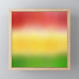 flag of bolivia 6 - with cloudy colors Framed Mini Art Print