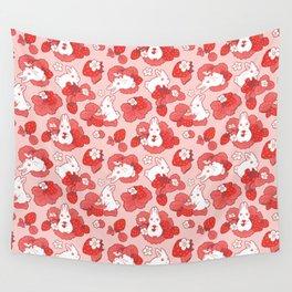 Strawbunny Delight Wall Tapestry