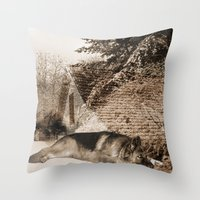 german Throw Pillows featuring German Shepherd by Erika Kaisersot