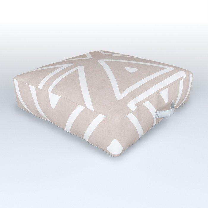 Big Triangles in Tan Outdoor Floor Cushion