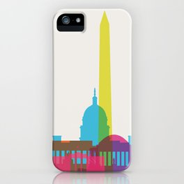 Shapes of Washington D.C. Accurate to scale iPhone Case