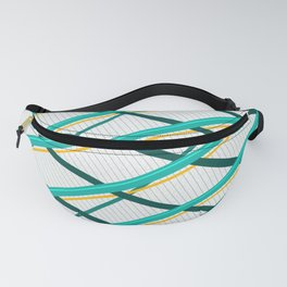Deco Stripes Turqoise Fanny Pack