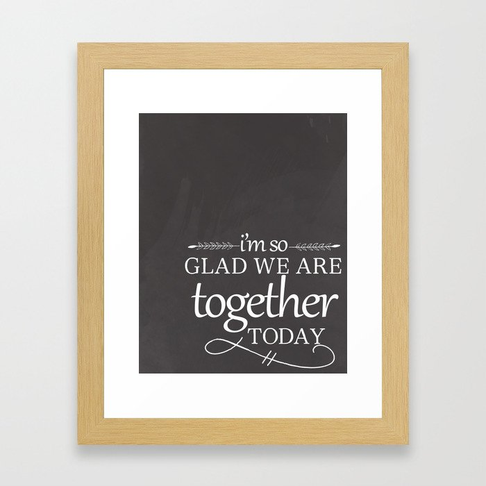Together Today Framed Art Print