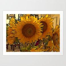 Everyone Loves Sunflowers  Art Print