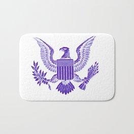 purple American Eagle icon symbol Bath Mat