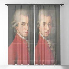 Wolfgang Amadeus Mozart (1756 -1791) by Barbara Krafft (1819) Sheer Curtain