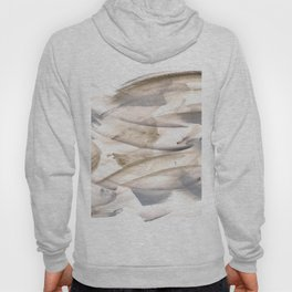 180630 Grey Black Brown Abstract Watercolour Neutral 23 | Watercolor Brush Strokes Hoody