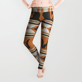 Foxes and ethnic shapes Leggings
