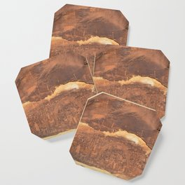 Rochester Creek rock art panel Coaster