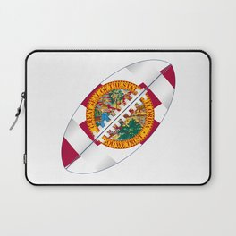 Florida USA Football Ball Flag Laptop Sleeve