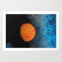 sunrise on a distant moon Art Print