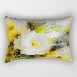 FLOWERS PAINTING Rectangular Pillow