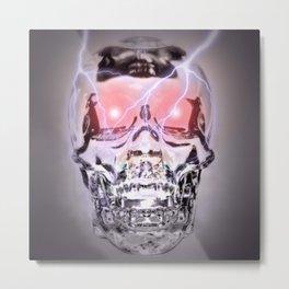 Glass Skull Metal Print