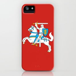 State Flag of Lithuania Knight On Red iPhone Case