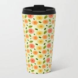 Fresh Floral Metal Travel Mug