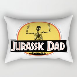 Jurassic Dad Dinosaur Skeleton Funny Birthday Gift 2 Rectangular Pillow