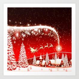 Santa Beautiful Christmas Art Print