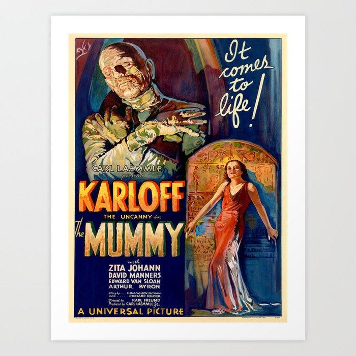 Vintage poster - The Mummy Kunstdrucke