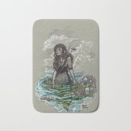 The Sea Witch and Her Sea Gull Bath Mat