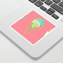 Neon Cones Sticker