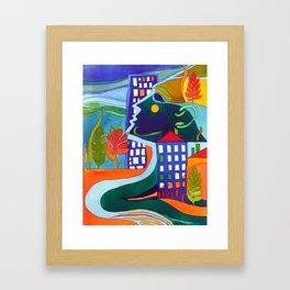 Tribute to Hundertwasser Framed Art Print