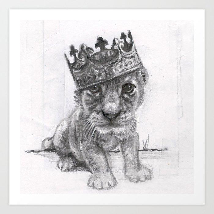 baby lion art print by aqueli society6