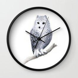 Snowy Fowl Wall Clock
