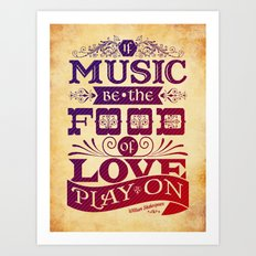 Food of Love  Art Print