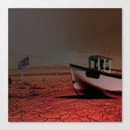 Deseert Boat Canvas Print