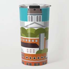 Columbia, South Carolina - Skyline Illustration by Loose Petals Travel Mug