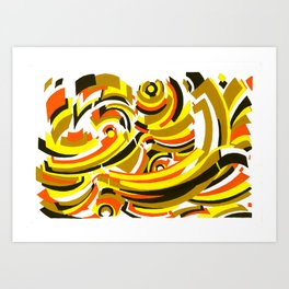 Seigaiha Series - Camaraderie Art Print