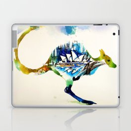 Australia City Skyline Vintage Travel Love Watercolor Laptop & iPad Skin