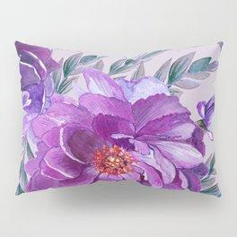 Violet and Purple Flowers Pillow Sham