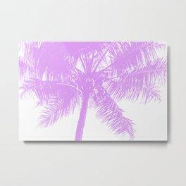 Palm Tree Pink Summer Beach Metal Print