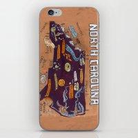 north carolina iPhone & iPod Skins featuring NORTH CAROLINA by Christiane Engel