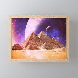 Galaxy Pyramids Framed Mini Art Print