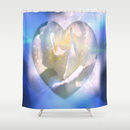Forever Love Abstract  Shower Curtain