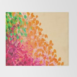 CREATION IN COLOR Autumn Infusion - Colorful Abstract Acrylic Painting Fall Splash Ombre Ocean Waves Throw Blanket