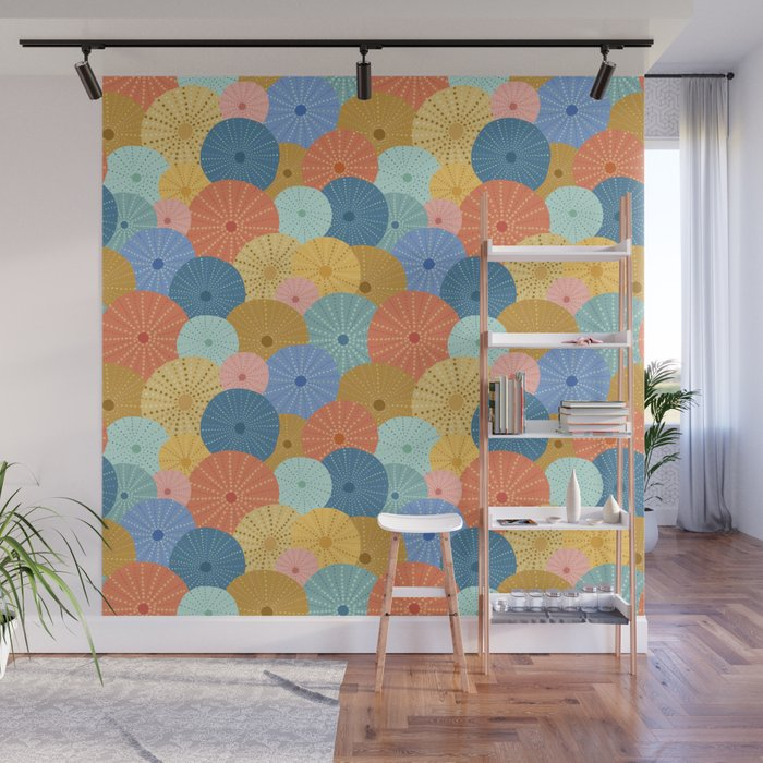 Coloful Sea Urchins 2 Wall Mural