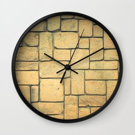 Stone Geometric Wall Clock