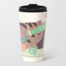 Hello Cat Metal Travel Mug