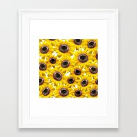 sunflowers Framed Art Prints featuring Sunflowers by Regan's World