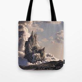 Kilauea Volcano at Kalapana 3b Tote Bag