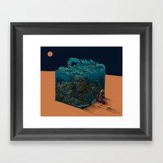 The ocean I met in desert Framed Art Print
